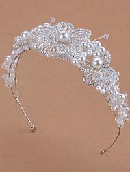 cheap -Pearl Crown Headdress Bridal Hair Accessories Super Fairy Knot Wedding Veil Dress Accessories