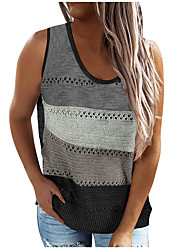 cheap -2021 spring ladies casual knitted v-neck stitching sleeveless vest top