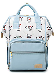 cheap -Women's Oxford School Bag Diaper Bag Large Capacity Zipper Geometric Character Daily Outdoor Backpack Black puppy Blue puppy Pink puppy Blue ladybug Pink ladybug