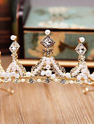 cheap -Simple Wedding Alloy Crown Tiaras with Metal 1 PC Wedding / Birthday Headpiece