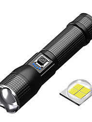 cheap -Outdoor Flashlight Torch Outdoor Activity Waterproof P50 Telescopic Zoom Outdoor Tactical Light USB Charging High Power LED Aluminum Alloy Strong Flashlight for Outdoor Fun Sports