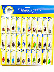 cheap -30 pcs Fishing Lures Spinnerbaits Bass Trout Pike Freshwater Fishing