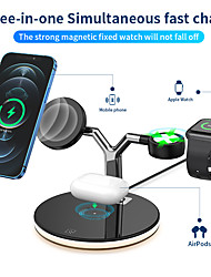 cheap -3 in 1 15W Fast Charge Pro Wireless Charger with Mag-Safe Magnetic Charger for iPhone 12 Pro Max iPhone 11 8 7 Samsung,Charger with LED Light Stand for Watch 6 5 4 3 Air pods Pro Charging Station