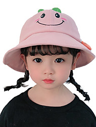 cheap -1pcs Kids Unisex Sweet Birthday / Casual / Daily Wear Plants / Cartoon Stylish Cotton Hats & Caps Blue / Yellow / Blushing Pink S