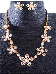 cheap -Women's Pearl Jewelry Set Geometrical Flower Stylish Gold Plated Earrings Jewelry Rose Gold For Anniversary Party Evening Prom Festival 1 set
