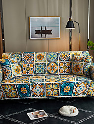 cheap -Sofa Cover Print Yarn Dyed Polyester Slipcovers