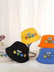 cheap -1pcs Kids / Toddler Unisex Basic Birthday / Casual / Daily Wear Cartoon / Letter Stylish Cotton Hats & Caps Black / Blue / Yellow S