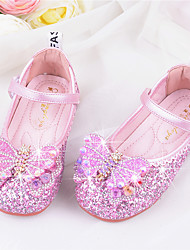 cheap -Girls' Flats Flower Girl Shoes Princess Shoes School Shoes Rubber PU Little Kids(4-7ys) Big Kids(7years +) Daily Party & Evening Walking Shoes Rhinestone Sparkling Glitter Buckle Purple Blue Pink