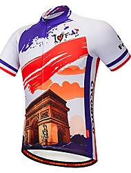 """cheap -men's cycling jersey short sleeve italy,france,spain,reflective,light,breathable and quick drying (cy607s, chest 37-39""""- medium)"""