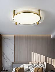 cheap -40/50/60 cm LED Ceiling Light Round Square Design Flush Mount Lights Copper Brass LED Nordic Style 110-120V 220-240V
