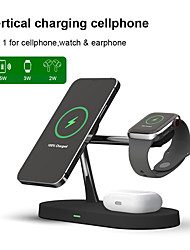 cheap -3-in-1 15W Fast Charging Wireless Charger Holder for iPhone 12 11 Pro Max XS Max Samsung S21 S20 S10 Xiaomi Huawei Oneplus Smartphones Wireless Charge Station for Watch 6 5 4 3 Air Pods