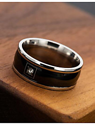 cheap -Ring Cubic Zirconia Black Alloy Simple 1pc 7 8 9 10 11 / Men's