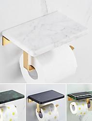 cheap -Bathroom Marble Paper Towel Holder Toilet Paper Towel Hook Household Toilet Paper Holder Toilet Paper Rack Roll Holder