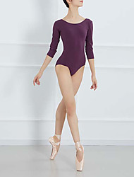 cheap -Ballet Leotard / Onesie Solid Women's Training 3/4 Length Sleeve High Lycra