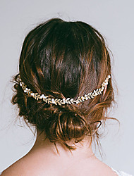cheap -Wedding Bridal Copper wire Headbands / Headdress / Headpiece with Imitation Pearl / Metal 1 Piece Wedding / Party / Evening Headpiece