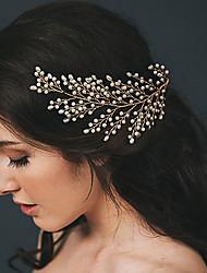 cheap -Wedding Bridal Copper wire Headdress / Headpiece / Hair Accessory with Imitation Pearl / Crystal / Rhinestone / Metal 1 PC Wedding / Party / Evening Headpiece