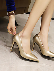 cheap -Women's Heels Stiletto Heel Pointed Toe Business Sexy Wedding Party & Evening PU Solid Colored Gold Silver