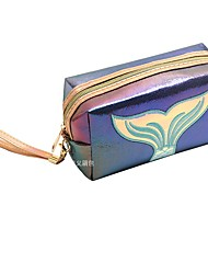 cheap -Women's Bags PU Leather Wristlet Bag Cosmetic Bag Zipper Animal Daily Outdoor Laser Jelly Bags Handbags Blue Purple Red Blushing Pink