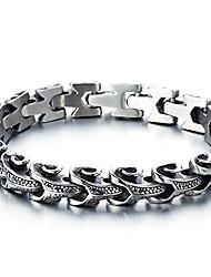 cheap -Mens Stainless Steel Biker Capricorn Link Bracelet Gothic Bracelet 8.5 Inches