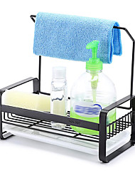 cheap -Stainless Steel Sponge Holder with Dishcloth Drying Rack Kitchen Sink Organizer Caddy Tray Sponge Brush Soap Holder Set with Removable Drain Tray for Kitchen