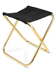 cheap -Camping Stool Portable Ultra Light (UL) Multifunctional Foldable Aluminum Alloy for 1 person Fishing Beach Camping Traveling Autumn / Fall Winter Grey Gold / Breathable / Comfortable