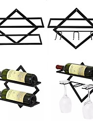 cheap -Wine Rack 2pcs Set Wine Accessories for Barware European Style Right Angle Upside-down Wine Glass Holder