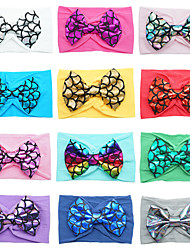 cheap -europe and america children's bowknot hairband fish scales foreign trade nylon headwear
