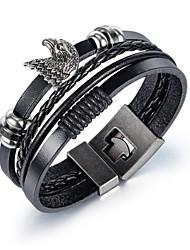 cheap -Men's Bracelet Vintage Style Fashion Fashion Leather Bracelet Jewelry Black For Anniversary Date Birthday
