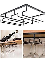 cheap -Wine Glass Rack Upside Down Wine Cabinet Goblet 3 to 5 Slot Wine Storage for Cabinet Shelf Hanger