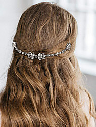 cheap -Wedding Bridal Copper wire Headbands / Headdress / Headpiece with Metal / Crystals / Rhinestones 1 Piece Wedding / Party / Evening Headpiece