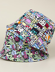 cheap -1pcs Kids Unisex Basic Birthday / School / Casual Cartoon Stylish Cotton Hats & Caps Blushing Pink / Green S
