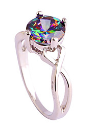 cheap -created blue topaz 925 sterling silver plated ring for women