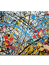 cheap -Mintura Large Size Hand Painted Abstract Oil Painting on Canvas Modern Art Wall Pictures For Home Decoration (Rolled Canvas without Frame)