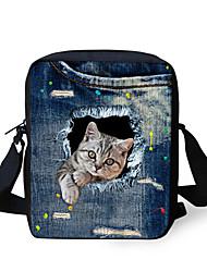 cheap -Boys' Girls' Bags Polyester Crossbody Bag Zipper 3D Print Animal Daily Going out 2021 MessengerBag C3306E C4043E CA4701E CA4912E