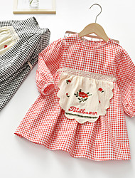cheap -girls spring and autumn dresses 2021 new plaid small and medium-sized children princess dress baby celebrity style foreign skirt