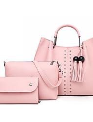 cheap -Women's Bags Bag Set Date Office & Career Bag Sets Handbags Black Blue Red Blushing Pink