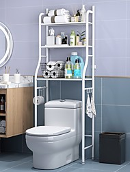 cheap -Toilet Shelf Bathroom Floor Finishing Storage Shelf Toilet Wrought Iron Three-layer Toilet Rack