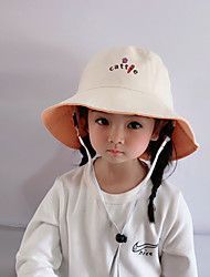 cheap -1pcs Kids Unisex Basic Birthday / Casual / Daily Wear Cartoon / Letter Stylish Cotton Hats & Caps Black / Blue / Yellow S