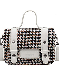 cheap -Women's Bags Top Handle Bag Date Office & Career 2021 MessengerBag Wine White Black Brown
