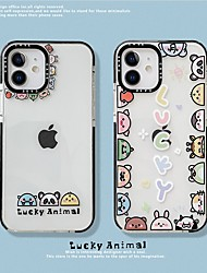cheap -Lovely Animal Patterned Case For Apple iPhone 12 11 SE2020 Shockproof Protective Case TPU Cover for iPhone 12 Pro Max XR XS Max iPhone 8 7