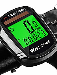 cheap -bike computer with solar energy bicycle speedometer and odometer wireless waterproof cycling computer lcd backlight automatic wake-up & multi-functions