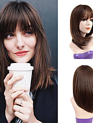 cheap -Synthetic Wig Curly Asymmetrical Wig Medium Length Chocolate Synthetic Hair Women's Party Fashion Comfy Brown