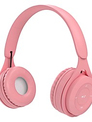 cheap -Y08 Bluetooth Wireless Headphones Macaron Color Hifi Music Auto Pairing Earphones Can Inserted TF Card Blue Pink Yellow Headsets