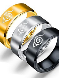 cheap -Ring Black Gold Silver Alloy Totem Series Simple 1pc 6 7 8 9 10 / Men's