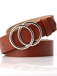 cheap -Women's Waist Belt Party Wedding Street Daily Black White Belt Pure Color Basic Brown Fall Winter Spring