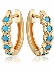 cheap -ladygd women huggie hoop earrings gold small hoop earrings cubic zirconia hypoallergenic huggie stud hoops plated 14k gold