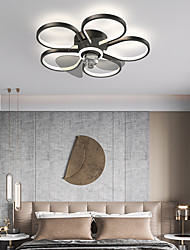 cheap -50 cm LED Ceiling Fan Light Includes Dimmable Version Geometric Shape Flower Design Ceiling Fan Metal Artistic Style Stylish Painted Finishes LED Modern 220-240V