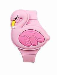 cheap -learning watch for toddler girls ages 3-8, 3d cute pink flamingo cartoon shape clamshell design kids digital led watch for kids birthday presents gifts for 3-8 year old toys - best gift