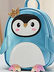 cheap -Kids PU School Bag Mini Backpack Lightweight Zipper Animal Daily School Backpack Black Blue Red Blushing Pink Light Grey