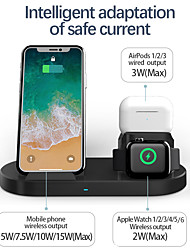 cheap -15W Fast 3 in 1 Wireless Charger for iPhone 12 11 Pro Max Dock Station Wireless Charging for iPhone Apple Watch 6 5 4 3 Air Pods Pro Samsung S21 Ultra S20 Plus Huawei Xiaomi Smartphone